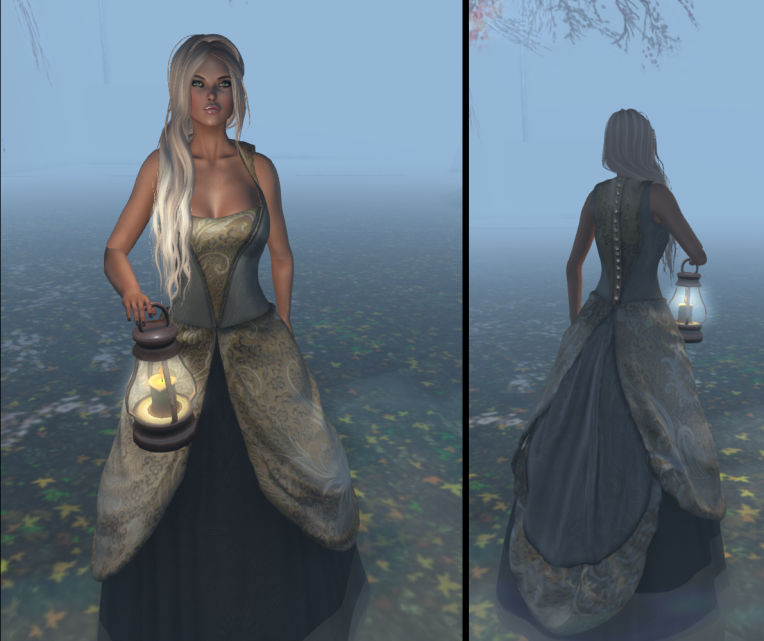 misty antique dress